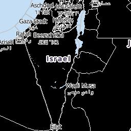 Jerusalem Karte Heute.Wetter Israel Wettervorhersage Wetterkarte Wetter De